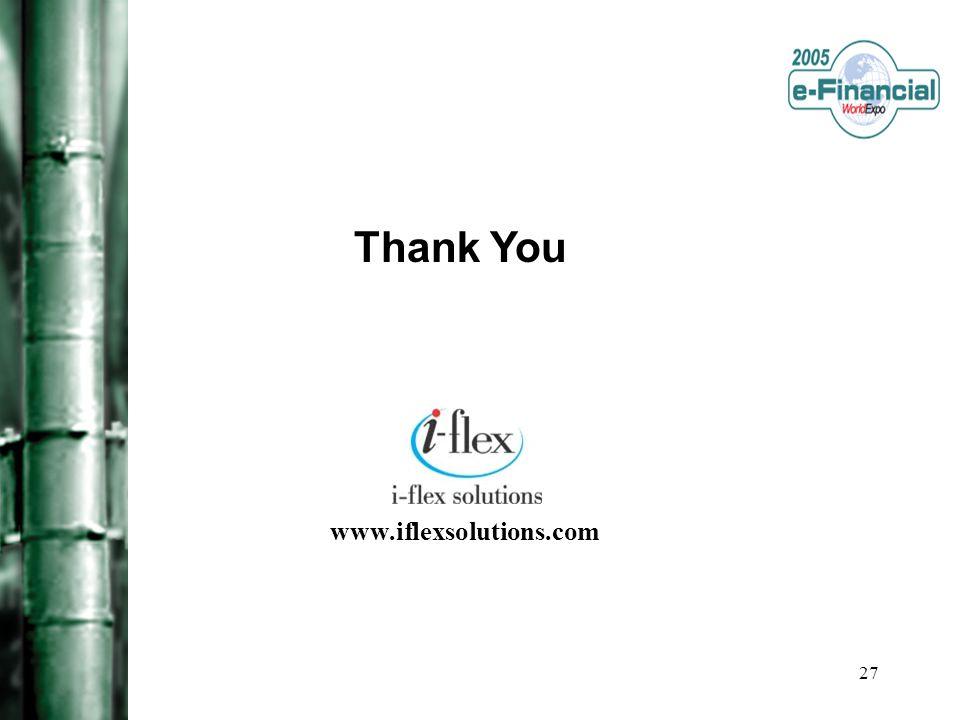 27 Thank You www.iflexsolutions.com