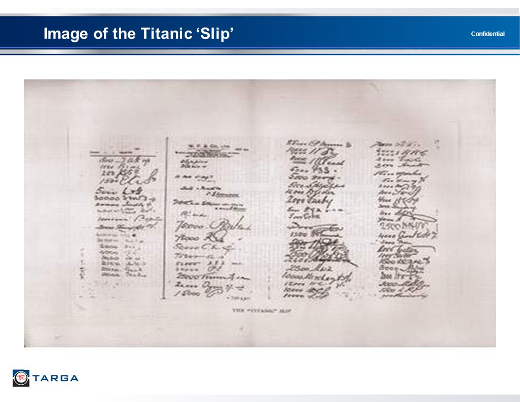Confidential Image of the Titanic 'Slip'