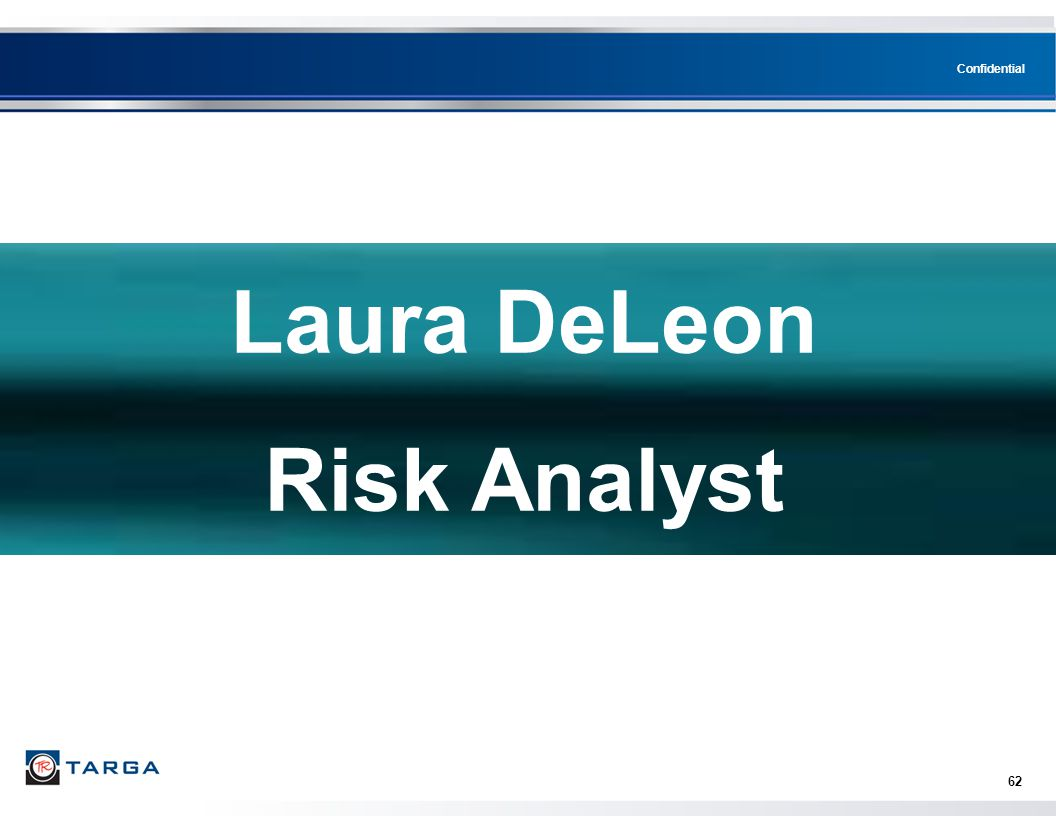 Confidential 62 Laura DeLeon Risk Analyst
