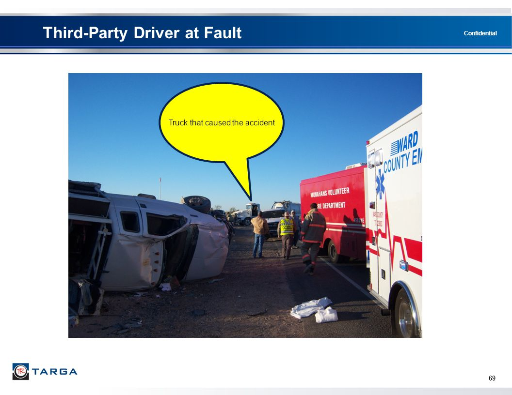 Confidential Third-Party Driver at Fault 69 Truck that caused the accident
