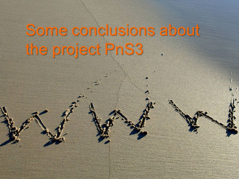 Some conclusions about the project PnS3