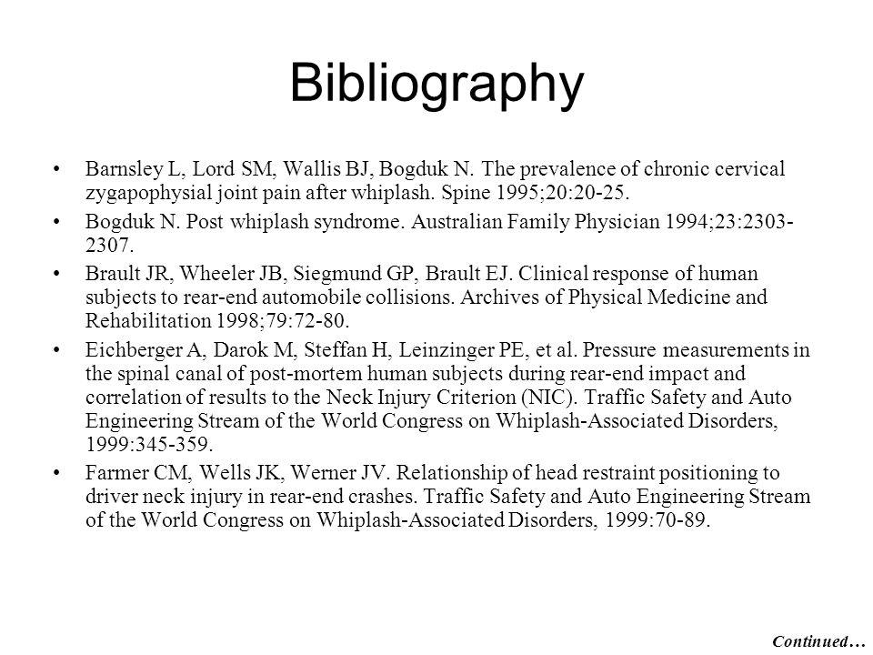 Bibliography Barnsley L, Lord SM, Wallis BJ, Bogduk N.