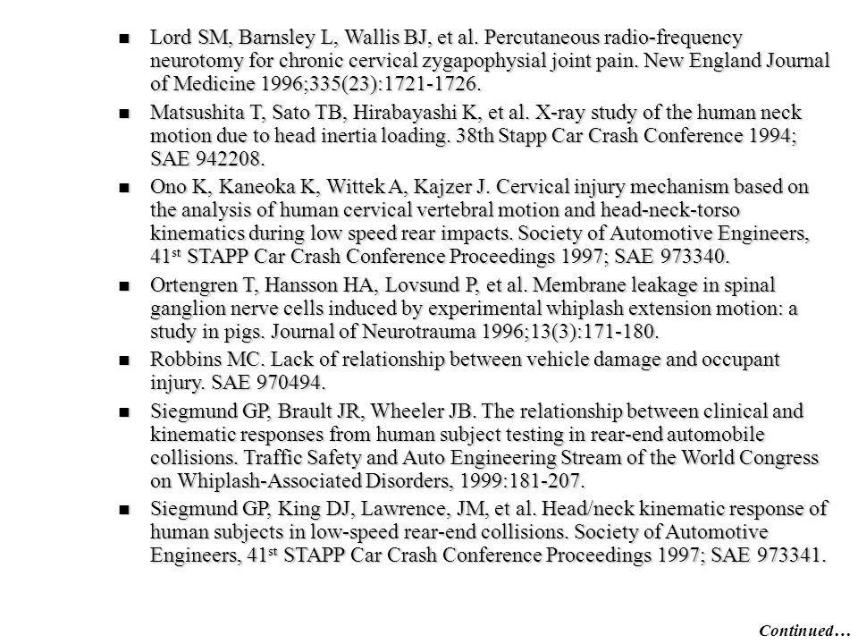 Lord SM, Barnsley L, Wallis BJ, et al.