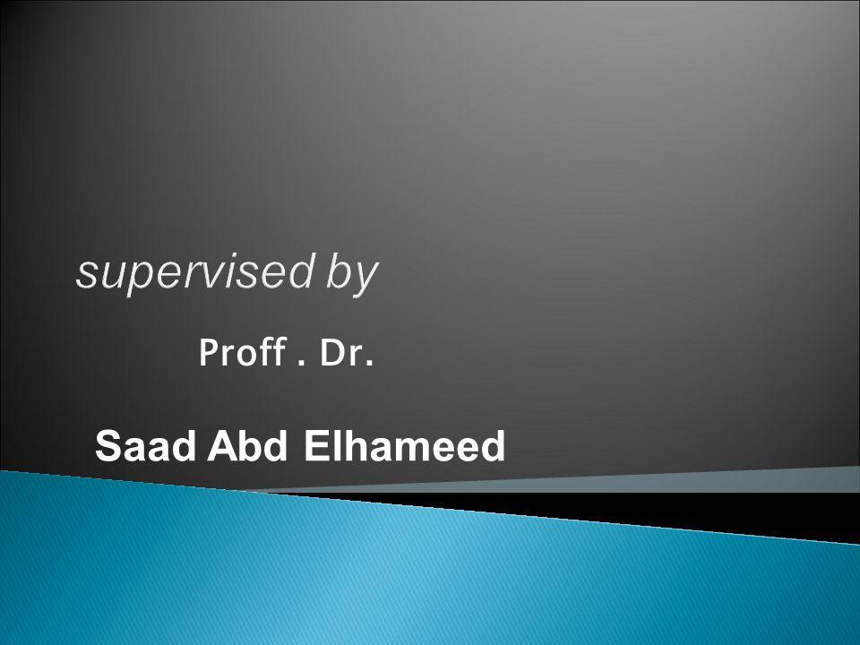 Proff. Dr. Saad Abd Elhameed