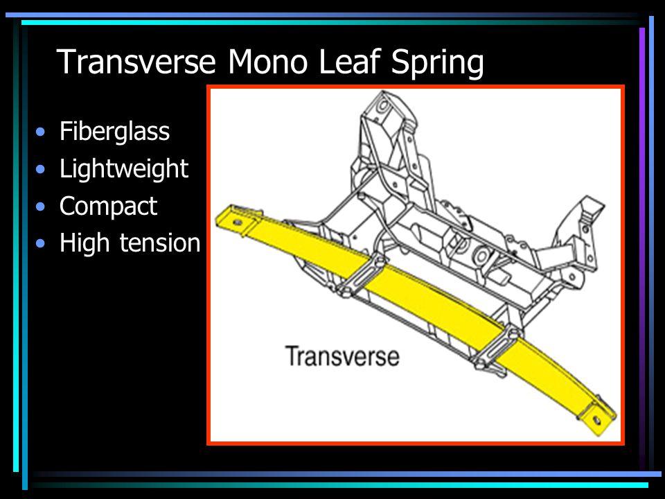 Transverse Mono Leaf Spring Fiberglass Lightweight Compact High tension