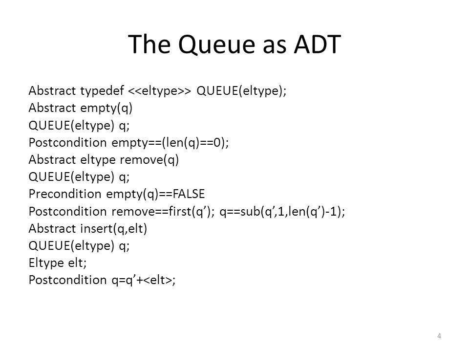 Implementation of Queues #define MAXQUEUE 100 Struct queue{ int items[MAXQUEUE]; int front, rear; } q; If array is used, overflow is possible Insert(q,x): q.items[++q.rear]=x; X=remove(q): x=q.items[q.front++]; Initially; q.rear=-1; q.front=0; The queue is empty when q.rear<q.front The number of elements is q.rear-q.front+1 5