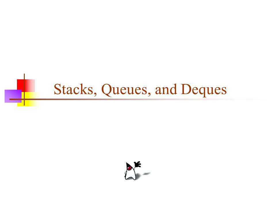 2 A stack is a last in, first out (LIFO) data structure Items are removed from a stack in the reverse order from the way they were inserted A queue is a first in, first out (FIFO) data structure Items are removed from a queue in the same order as they were inserted A deque is a double-ended queue—items can be inserted and removed at either end