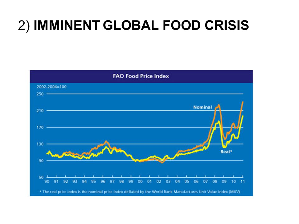 2) IMMINENT GLOBAL FOOD CRISIS