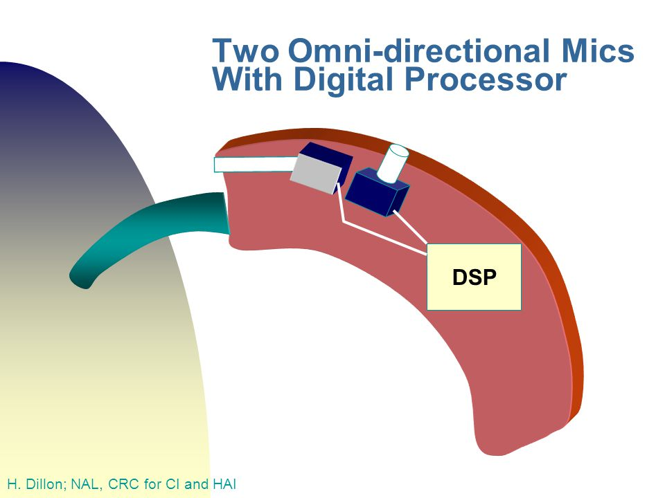 Two Omni-directional Mics With Digital Processor H. Dillon; NAL, CRC for CI and HAI DSP