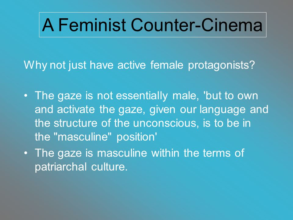 Why not just have active female protagonists.