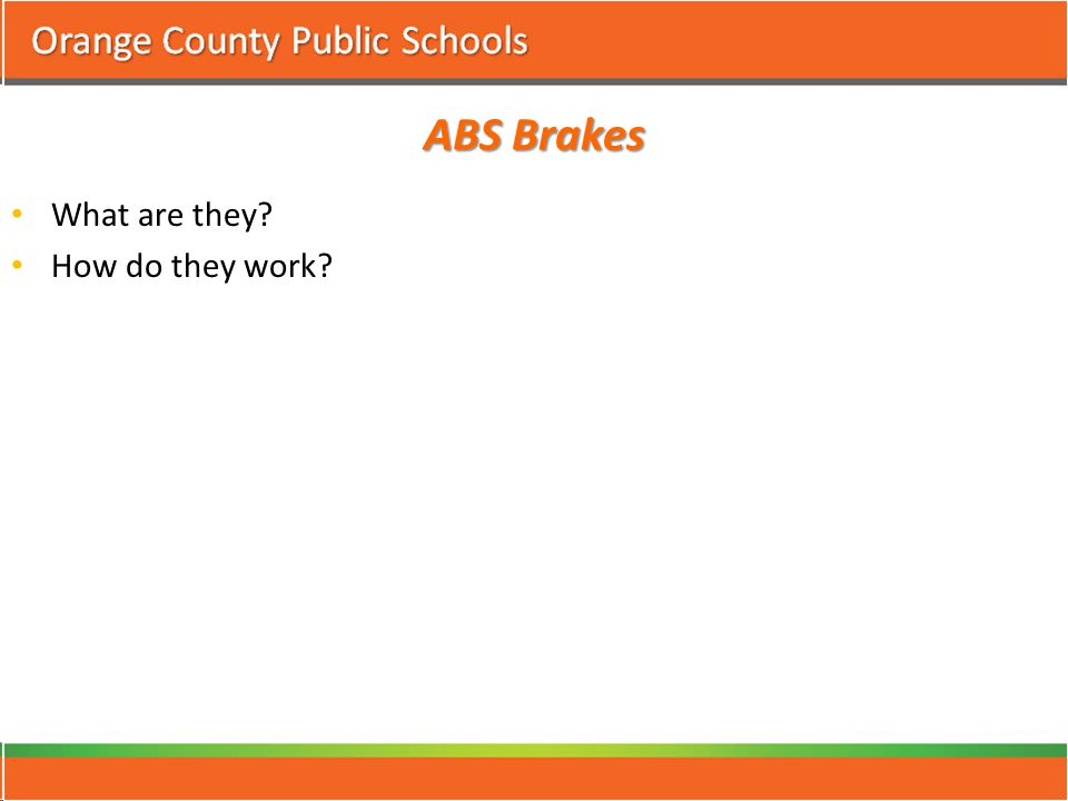ABS Brakes What are they? How do they work?