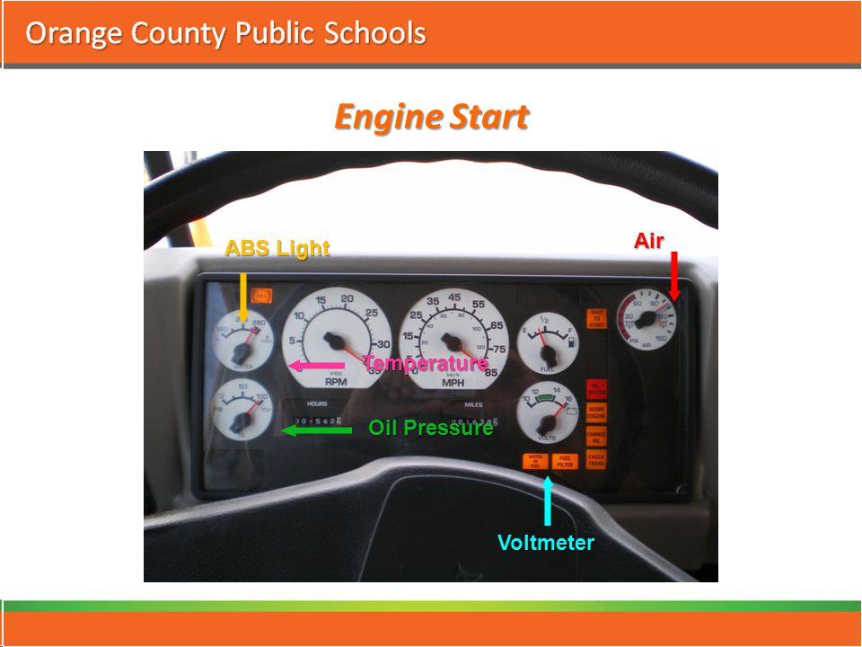 Engine Start ABS Light Temperature Oil Pressure Voltmeter Air