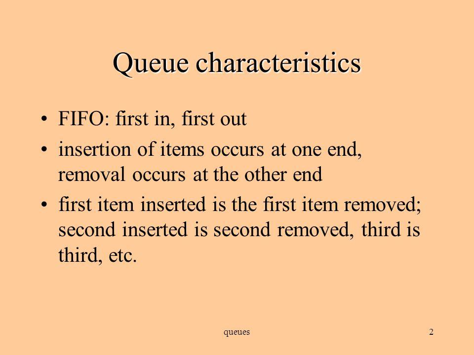 queues1 Queues Data structures that wait their turn