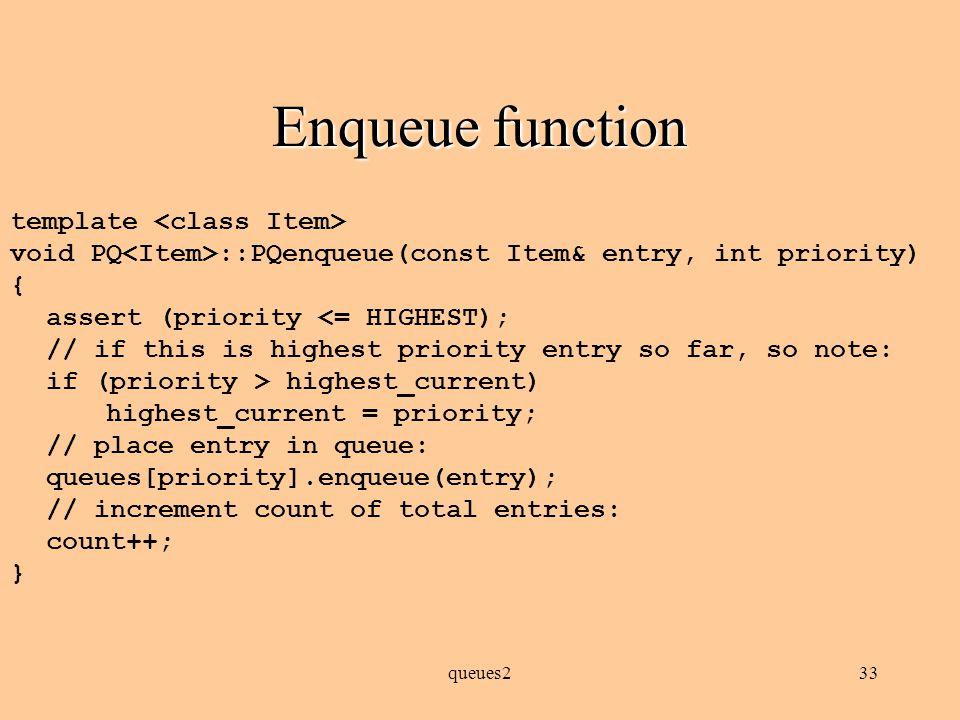 queues232 PQ implementation public int size () { return total; } public boolean is_empty() { return (total == 0); }