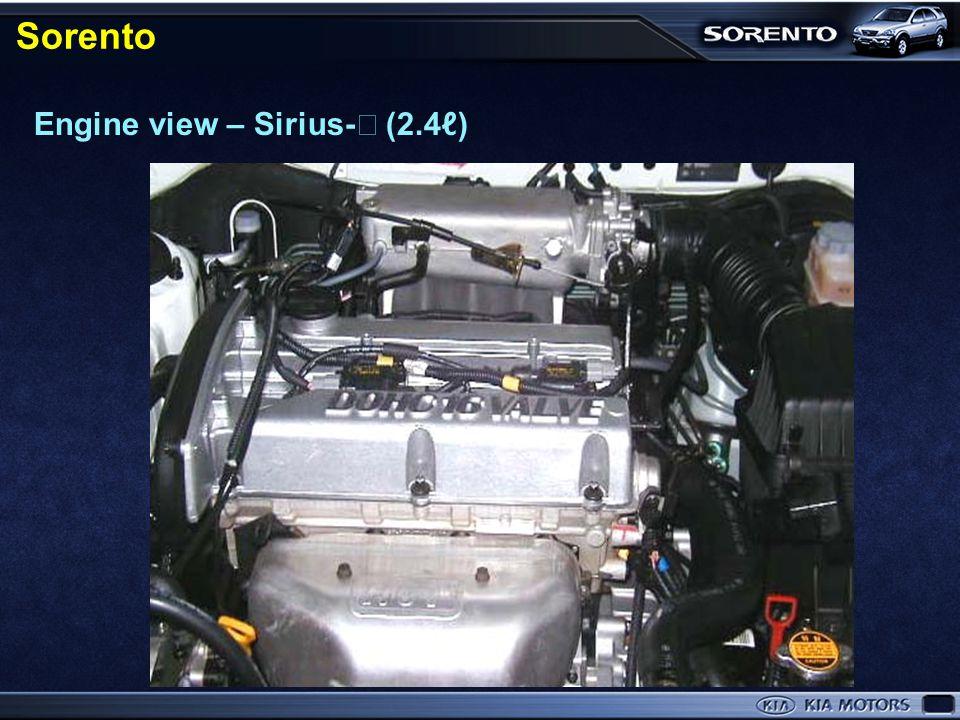 Engine view – Σ 3.5 (V6) Sorento