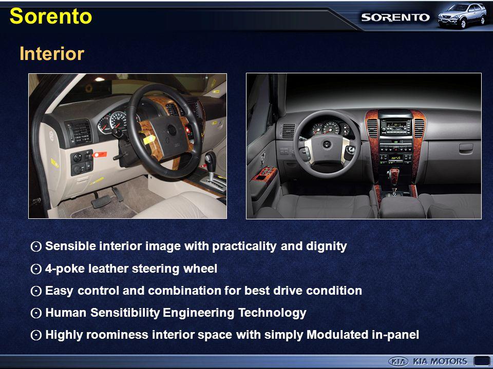 Sorento leads the style of SUV in the world automotive market X-5 (BMW) ML320 (BENZ) RX300 (LEXUS) Sorento
