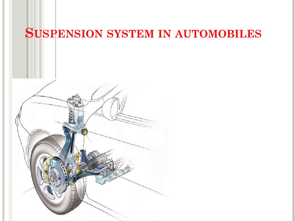 S USPENSION SYSTEM IN AUTOMOBILES
