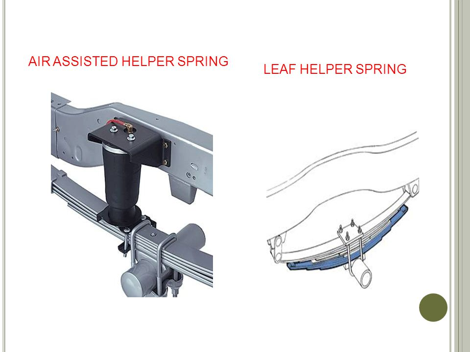AIR ASSISTED HELPER SPRING LEAF HELPER SPRING