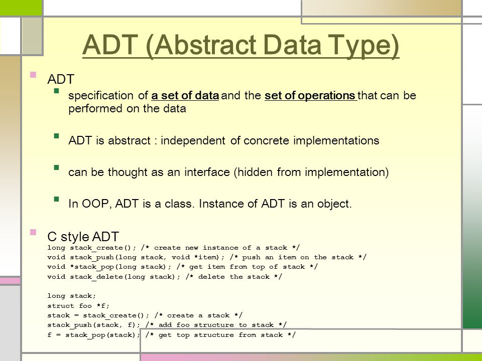 Array ADT Array is a consecutive set of memory locations.