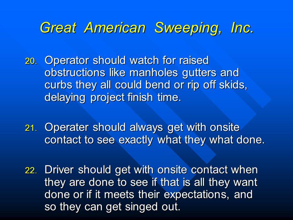 Great American Sweeping, Inc.