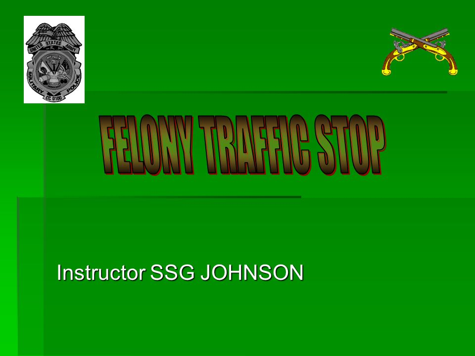 Instructor SSG JOHNSON