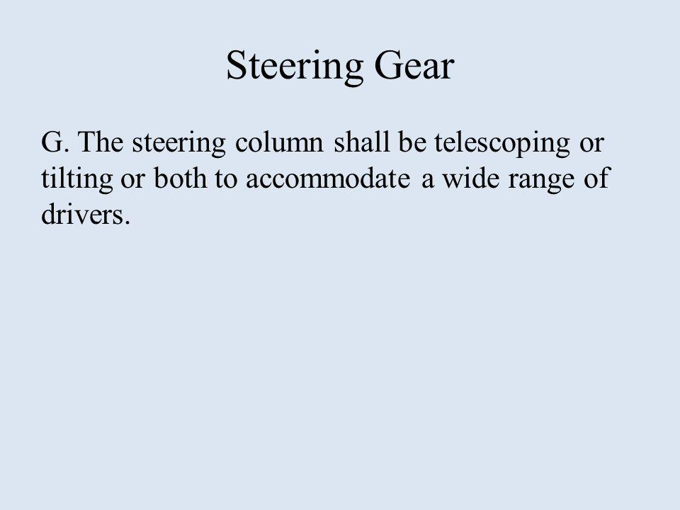 Steering Gear G.