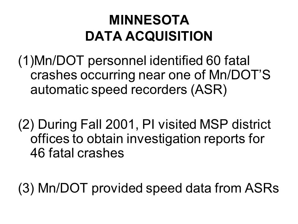 CONCLUSIONS Not so controversial: No evidence for a U-shaped ('Solomon's curve') relation between speed and crash risk Minnesota data Australian data More controversial: Crash reduction effect on individual crashes: Traveling a posted limit: 4.9/10 Traveling at mean speed: 4.2/10 Adherence to 55 mph limit: 8.3/10
