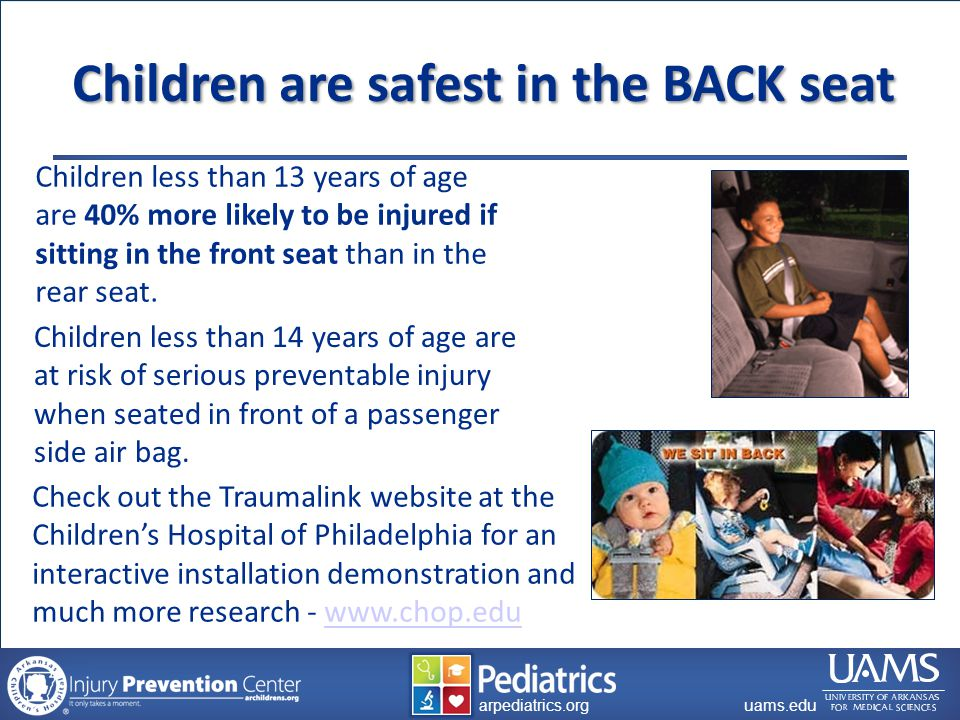 archildrens.org uams.edu arpediatrics.org uams.edu arpediatrics.org Child Safety Seat Misuse 90%+ Misuse Rates in Arkansas Why.