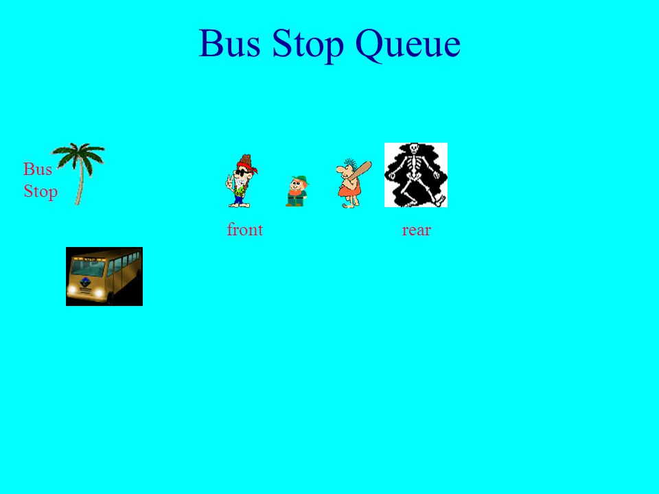 Bus Stop Queue Bus Stop front rear