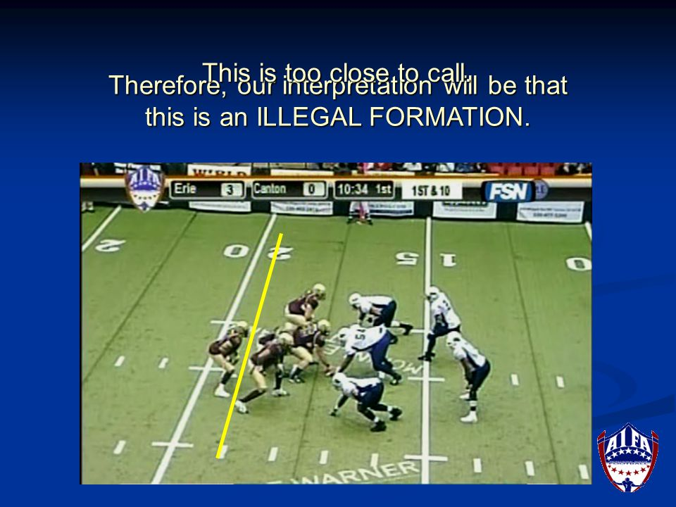 There is daylight on both sides of the ball. These are LEGAL FORMATIONS.