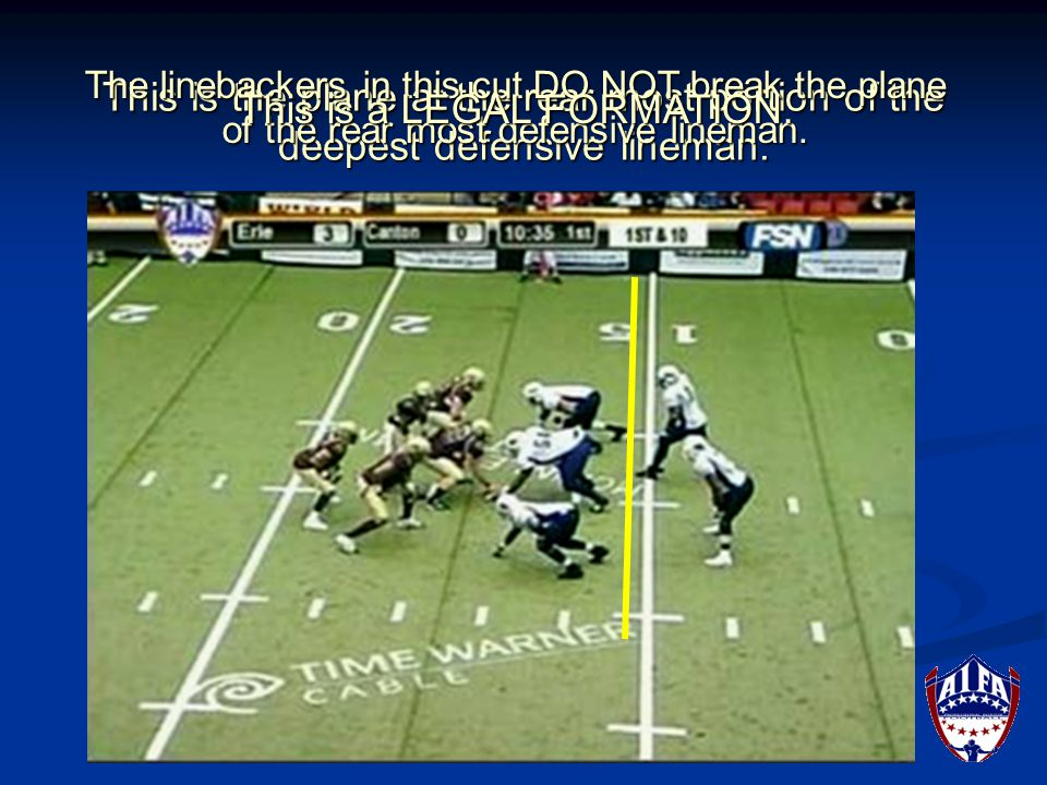 This is the plane at the rear most portion of the deepest defensive lineman.