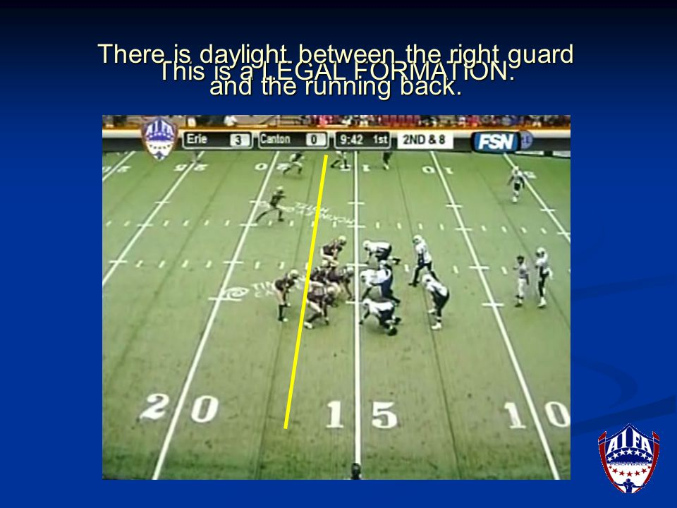 Is the defensive formation legal or illegal.Look at the defensive formation.
