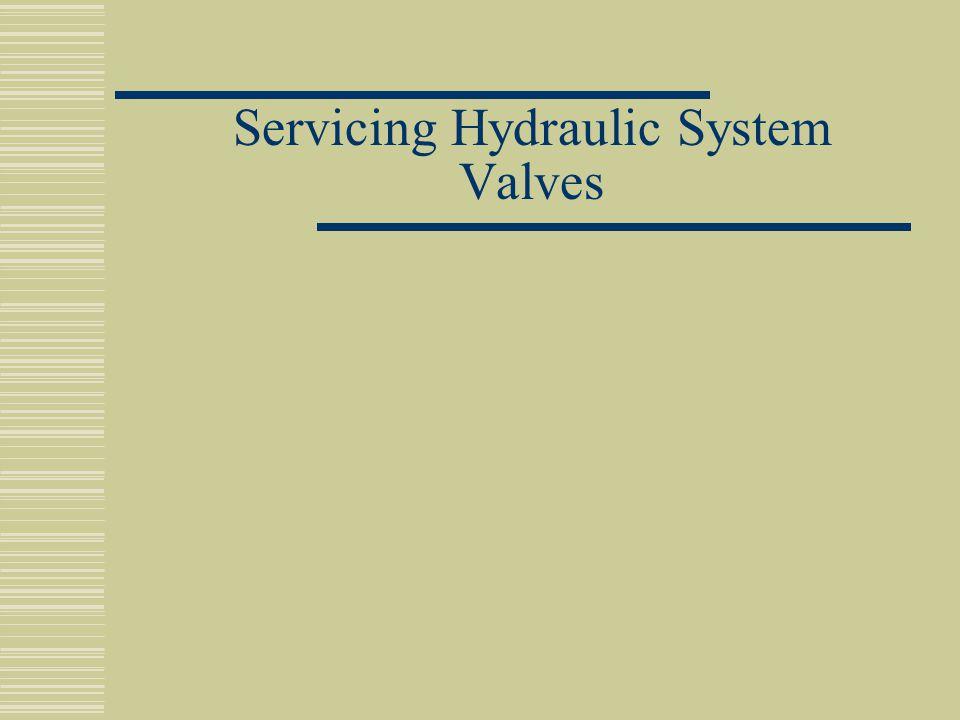 Servicing Hydraulic System Valves