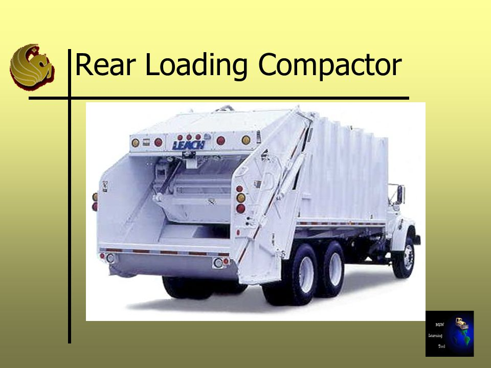 Rear Loading Compactor