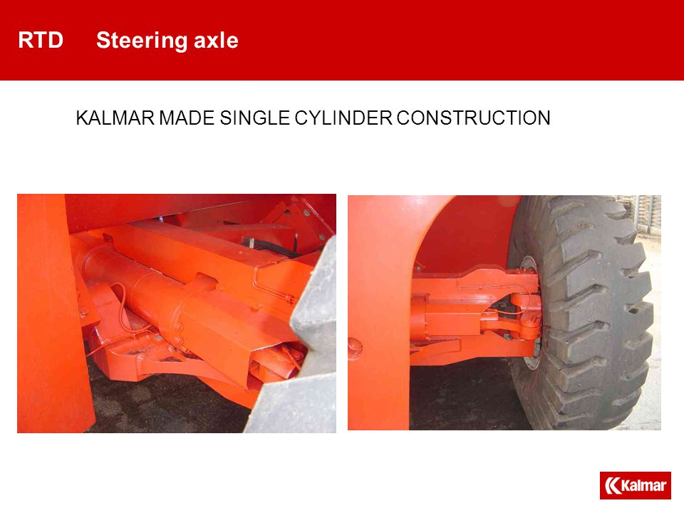 RTD Steering axle KALMAR MADE SINGLE CYLINDER CONSTRUCTION