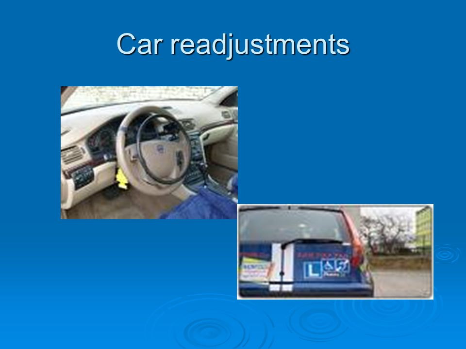 Car readjustments