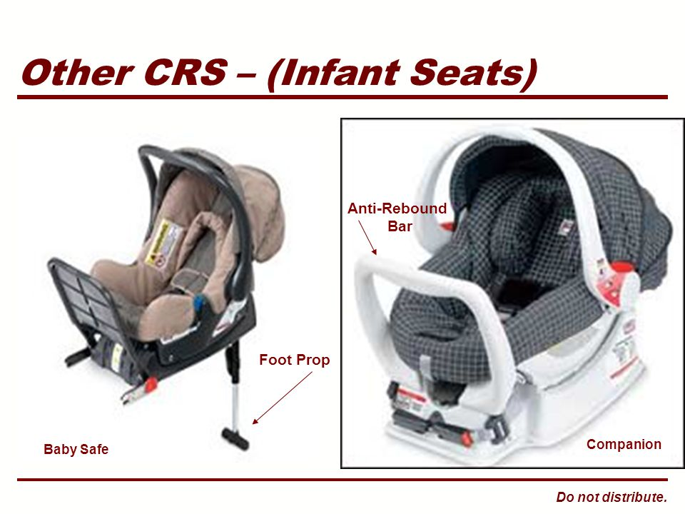 Do not distribute. Other CRS – (Infant Seats) Baby Safe Companion Foot Prop Anti-Rebound Bar