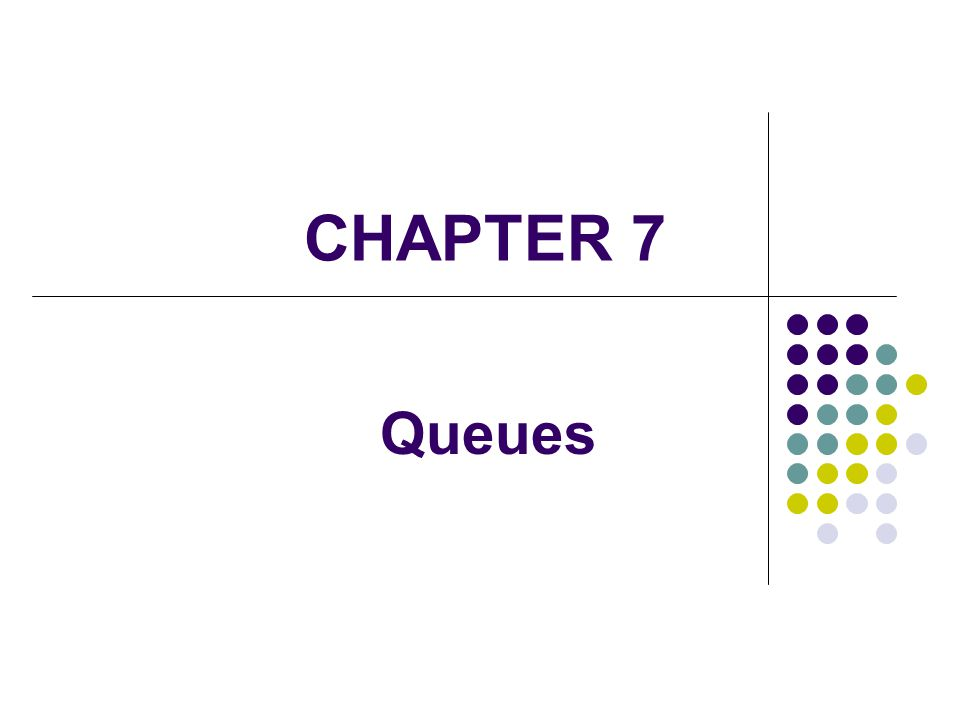 2 A queue is a linear collection whose elements are added on one end and removed from another Elements are removed in the same order they arrive A queue is FIFO – first in, first out