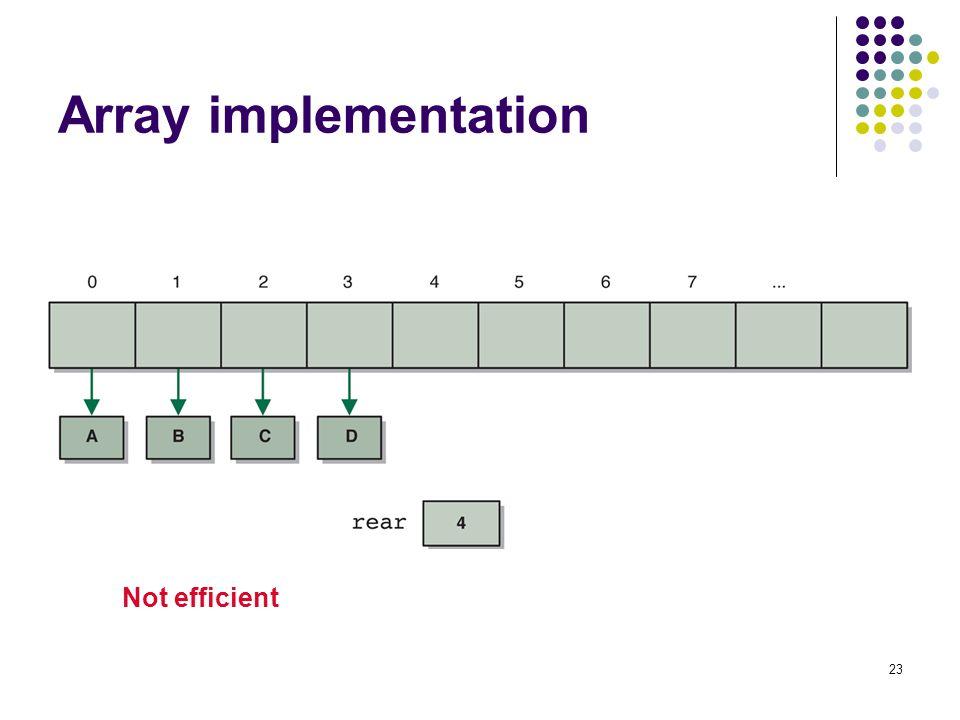 23 Array implementation Not efficient