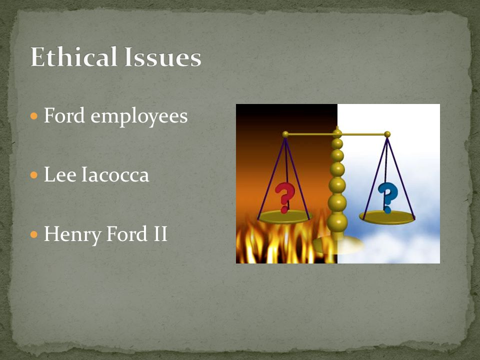 Ford employees Lee Iacocca Henry Ford II
