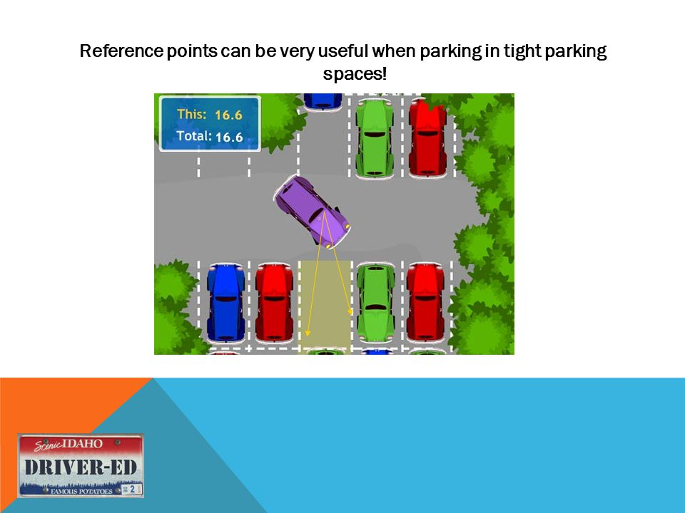 Reference points can be very useful when parking in tight parking spaces!