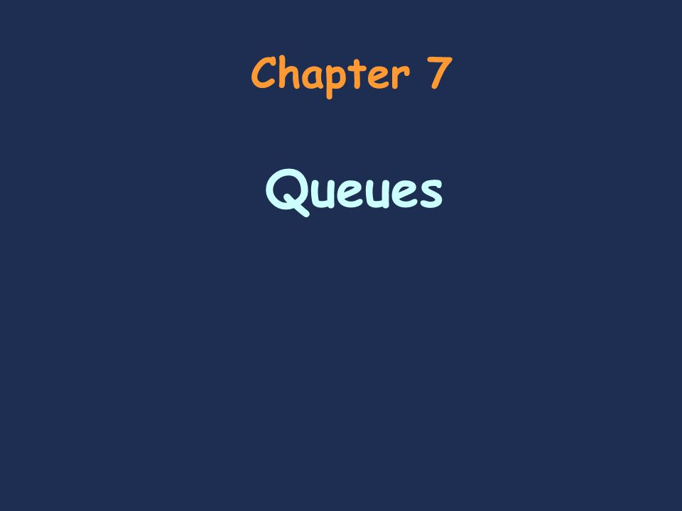 Data Structure 2 Chapter Outline  Objectives  Follow and explain queue-based algorithms using the front, rear, entering the queue, and exiting the queue  Use a Queue class to implement stack-based algorithm such as scheduling first come, first serve  Recognize situations that require a priority queue  Contents  Introduction to Queues  Queue Applications  Implementations of the Queue ADT  Priority Queues