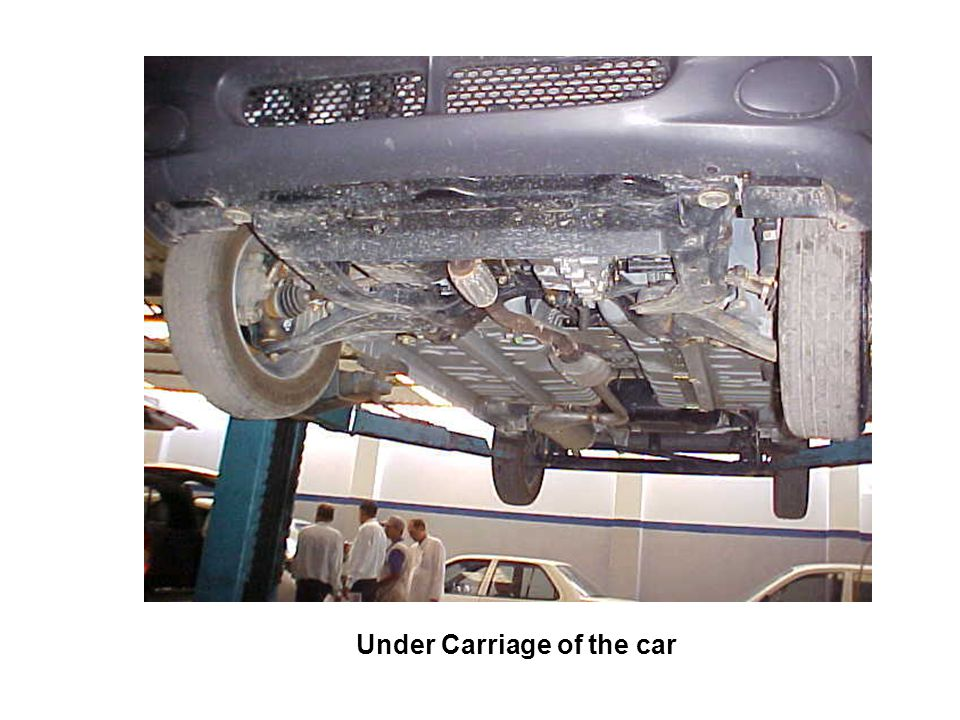 Under Carriage of the car
