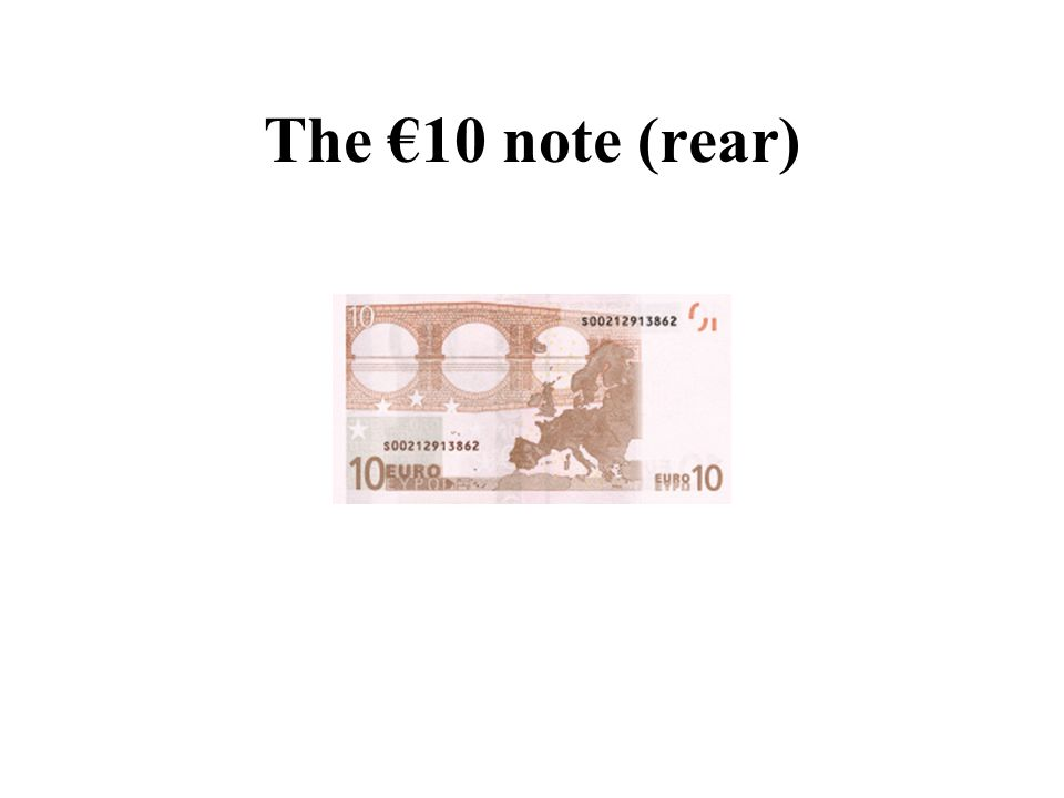 The €10 note (rear)