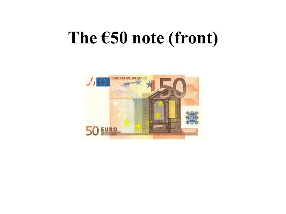 The €50 note (front)