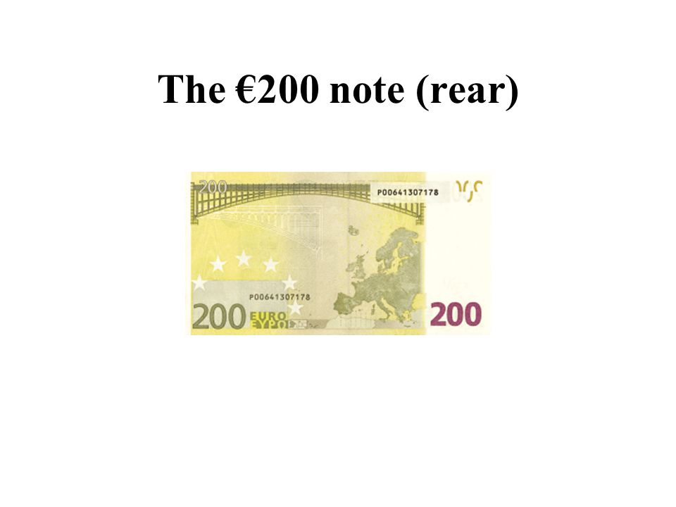 The €200 note (rear)