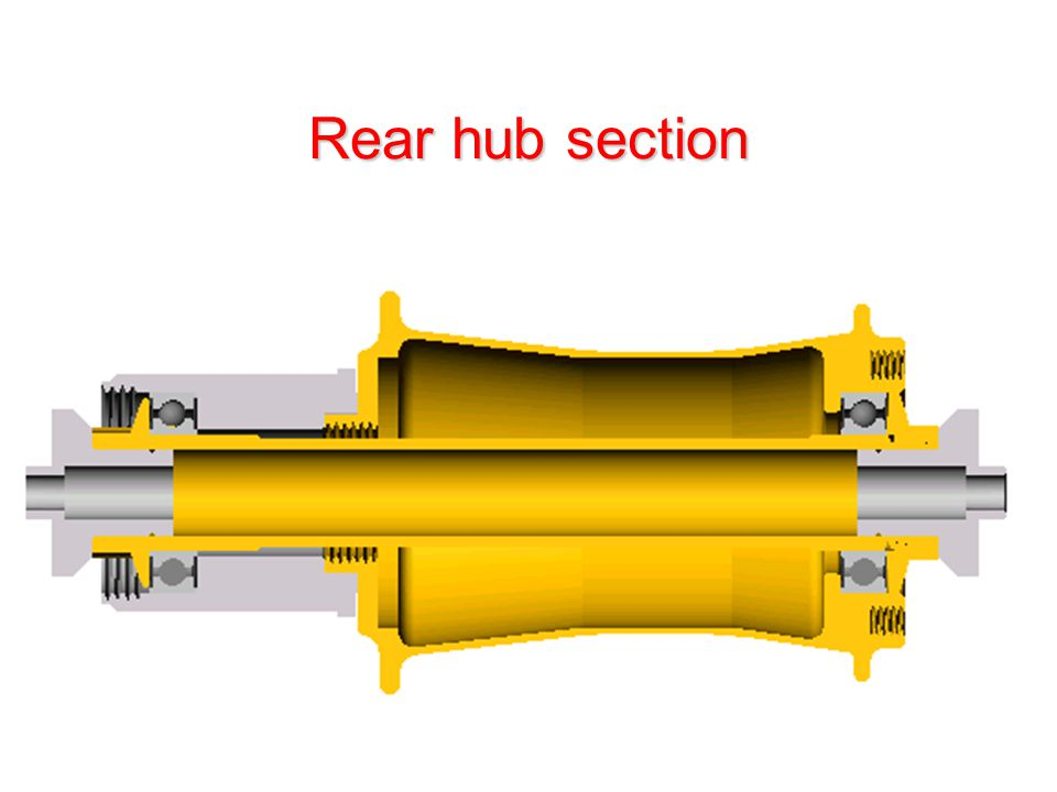 Rear hub section
