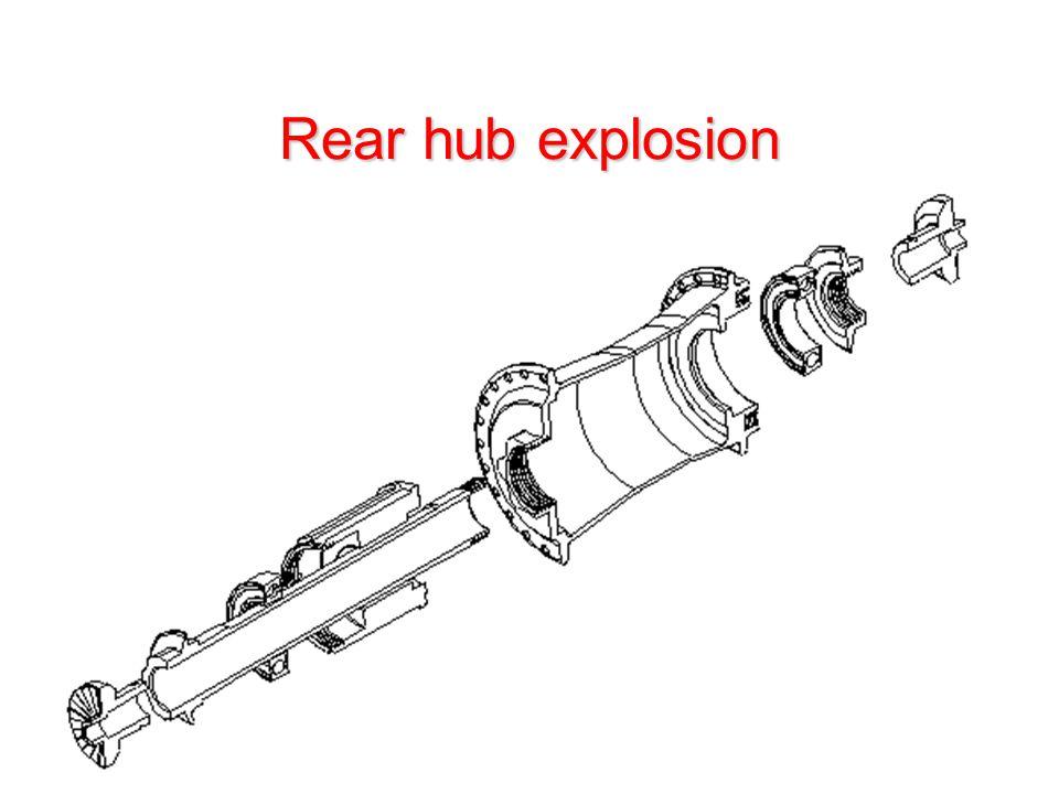 Rear hub explosion