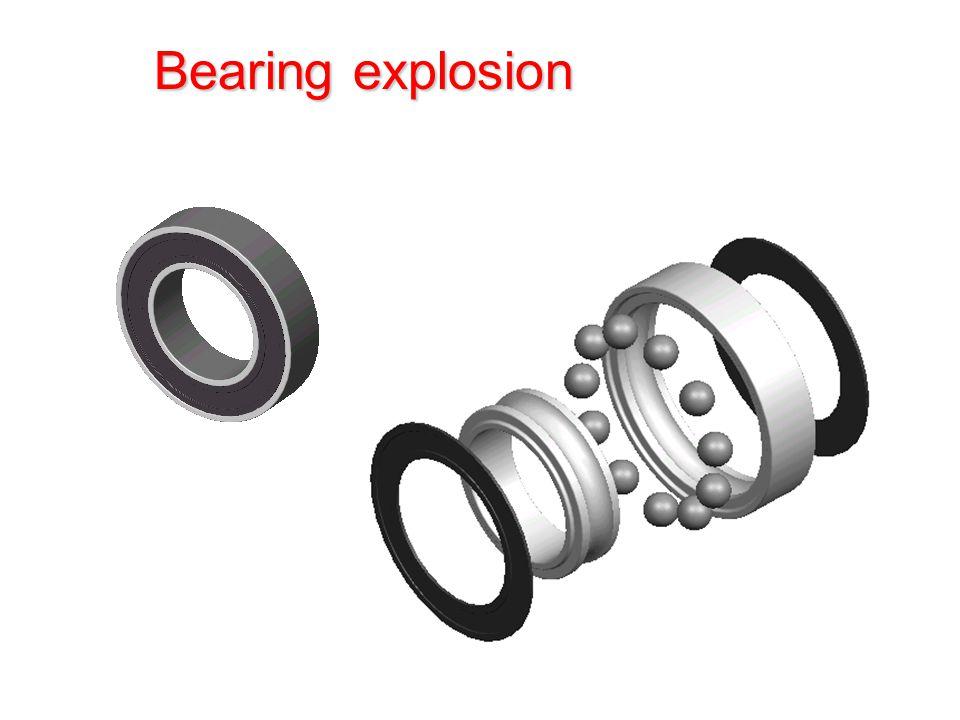 Bearing explosion