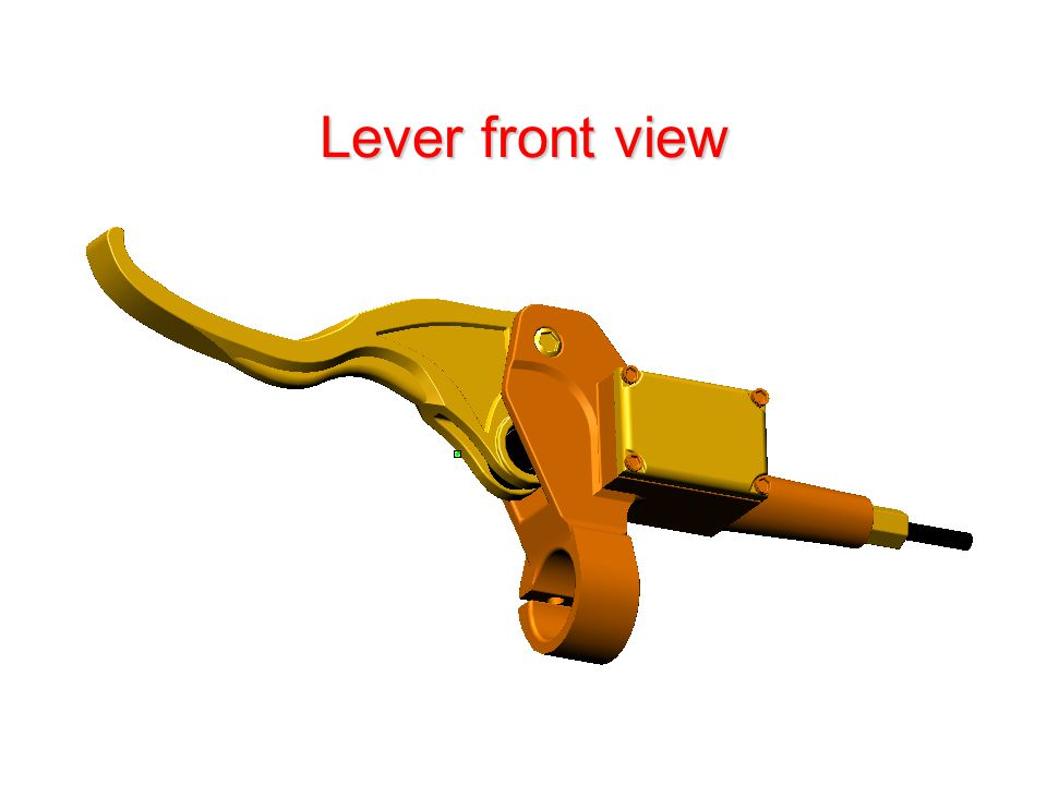 Lever front view